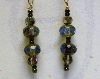 Rainbow glass bead earrings (see matching necklace)