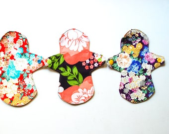 Cloth pantyliner, pantyliners Set, organic cloth pads, reusable panty liners, pantyliners.