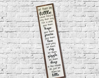 let them be little sign, playroom sign