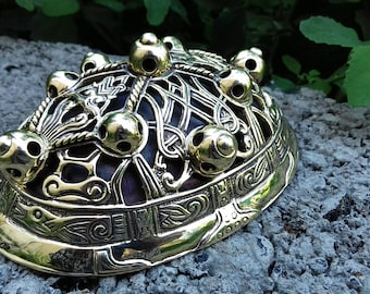 Viking brooch Turtle fibula, Replica, Viking Age, 10th c Gotland, Reconstruction, Medieval, Norse, Pagan, SCA garb, Viking jewelry, Nordic