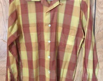 1970's Sears long sleeve button down collar shirt