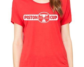 Ladies Slouchy Tee Cars 3 Shirt Piston Cup Racing Series Cars Land Shirt Disneyland Shirt Disney World Shirt womens shirt  Magic Kingdom Tee