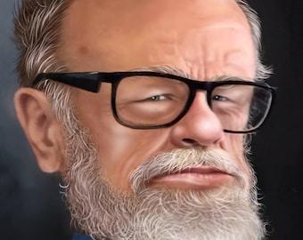customized digital caricature