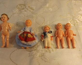 Poupées celluloïd MQ.  MJLQ. Ange. Old dolls. Vintage. Italie