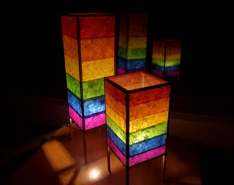LGBT, Gay Pride, Accent Lamp, Table Lamp, Paper Lamp, Rainbow Lamp, Gay Wedding
