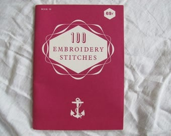 J P Coats Canada 100 Embroidery Stitches / Anchor embroidery stitches