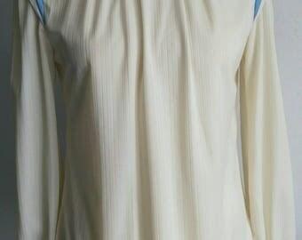 White blouse, vintage blouse, 70's blouse