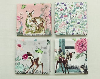 """Botanical Bambi Fabric made in Korea /Cotton&Linen made in Korea By the Panel   53"""" X 44""""(135cm X 110cm)"""