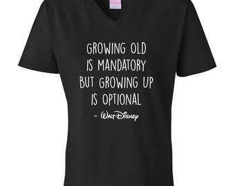 Walt Disney Quote V-neck T-shirt