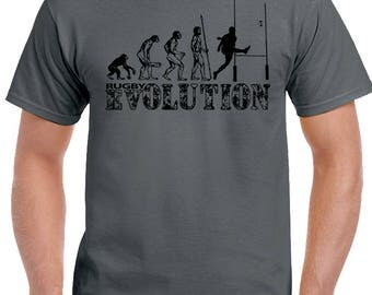 Evolution Of Rugby Ape To Man Mens Funny T-Shirt England Wales Scotland Ireland 1690