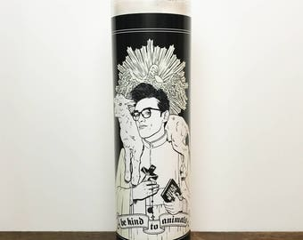 Morrissey Be Kind to Animals The Smiths // 7 Day Altar Candle, Saint Candle