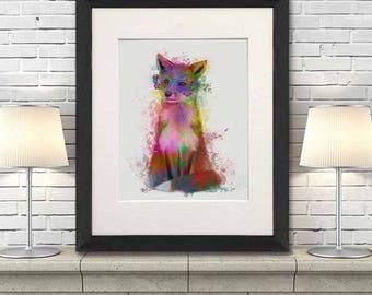 Fox woodland art - Fox 1 Print - Fox decor Nursery fox decor Fox wall art Funny fox decor Fox nursery theme Fox wall art print Woodland fox