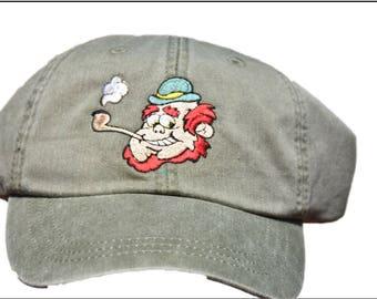 Baseball Cap - Leprechaun smoking a pipe