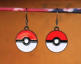 Pokeball Earrings, Pokemon Earrings