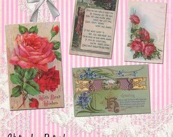 Vintage Love Postcards - Digital Download