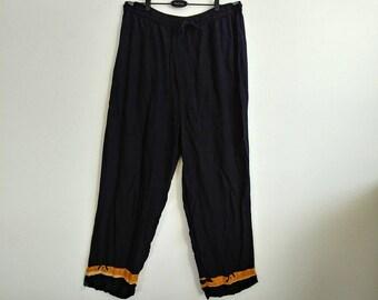 Vintage African Black Magic Pants