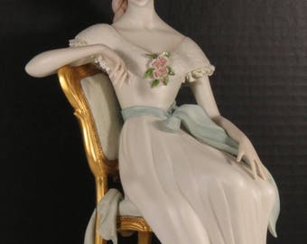 "SCARCE!!! Cybis Porcelain Art Studio Limited Edition #425 of 500 ""Scarlett"" Figurine."
