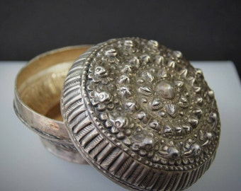 Laos Silver Betel Nut Box  WM 10b