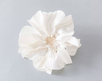 Silk Flower Silk Millenary Flower, Silk Peony Flower for Bridal Headpieces, Bridal Sash