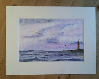 By the Sea Original Watercolor