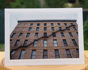 Photo Greeting Card   Photography Card   Photo Enlargements   Fire Escape Stairway   Fire Escape Staircase   Metal Staircase   Fire Escape