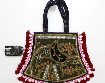 Handmade Ethnic Designer Tribal Banjara Patchwork Embroidered Hippy Fashionable Stylish Trendy Hippie Gypsy Boho Bohemian Fancy Bag G284