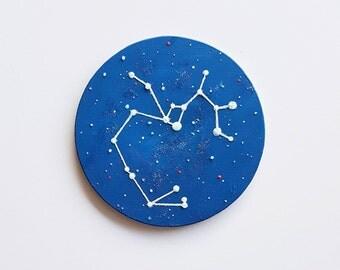 Sagittarius Art, Zodiac Art, Sagittarius Gift, Sagittarius Painting, Glow in the Dark, Zodiac Gift, Astrology Gift, Astrology Art, Gift Idea