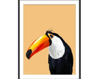 Toucan Print. Toucan Gift. Toucan Art. Toucan Painting. Toucan Decor by Green Lili. Wall Art. Gift. Interiors.