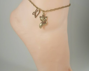 Vixen Hotwife Anklet, Initial Jewelry, Personalized Jewelry, Sexy Anklets, Swinger Jewelry, Kinky, Single Bronze Series
