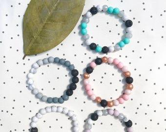 Essential Oil Diffuser Bracelet, Lava Bead Bracelet, Essential Oils, Stretch Bracelet, Elastic Bracelet, Beaded Bracelet, Lava Bead Bracelet