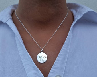 Choose joy necklace, Choose joy jewelry, Joy jewelry, Inspiring jewelry, Choose joy charm, Happiness jewelry, Sentimental jewelry, Joy charm