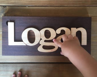 Handmade Personalized Name puzzles, wood puzzle, alphabet puzzle, kids puzzle - handsawn nursery art