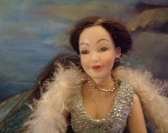 HEIDI OTT Collector doll 14 cm/For dolls house/90s/Very rare