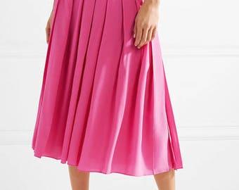 Silk 100% crepe de chine pink fabric