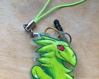Green Dragon Cellphone Charm