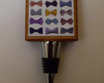 Derby Bowties Bottle Stopper