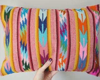 Cushion Cover Peruvian Pillow Cover Wool Cushion Fair Trade Home Decor Ethnic Handwoven Pillow Ethical Handmade Artisan 34x47cm 13x18in