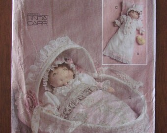 "VOGUE PATTERN - 8441 Doll Collection, Linda Carr, 15"" Baby Doll Accessories, Carrier, Nightgown, Cap, Pillow, Quilt,Uncut"
