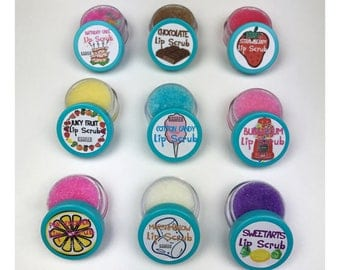 Set of 6 Edible Lip Scrubs | Party Favors, Gift Sets, Discounted Set