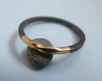 Black Silver Ring, Wedding Band, Infinity Band, Wedding Band For Her, Oxidized Silver Ring, Mobius Ring, Mens Oxidized, Infinity Ring Gold