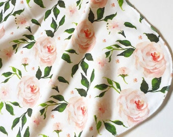 Victorian Rose Organic Cotton Baby Swaddle Blanket