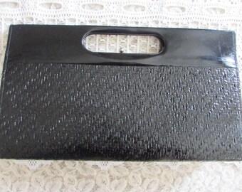 Vintage Black Clutch Bag/Vintage Clutch Purse/Vintage Purse/Vintage Bag/Vintage 80's Clutch/Vintage 80's Purse
