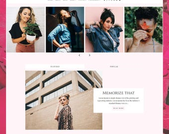 LIMITED! Carmen | Responsive Minimalist Premade Blogger Template with Landing Page !