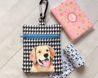 Dog Walking Bag, Golden Retriever Pouch, Dog Treat Bag, Golden Retriever Gift, Dog Lover Gift, Dog Birthday Gift, Gift For Her