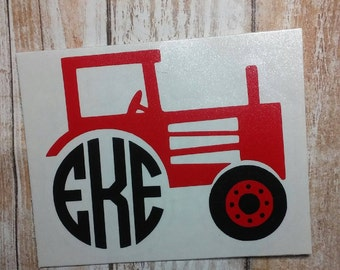 Tractor Monogram/Tractor Decal/Tractor Sticker/ Agricultural Decal/ Farm Machinery Decal/JD Tractor/Tractor/Farm Life/Plow/Heavy Machinery
