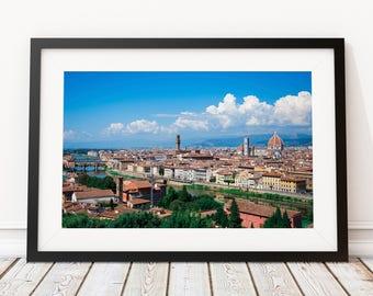 Giant Wall Art - Office Decor for Traveler - World Traveler - Travel Gift for Pilot - Travel Enthusiast - Flight Attendant - Florence Italy
