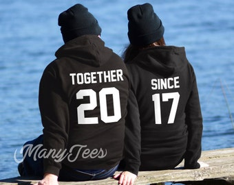 Schön Together Since Hoodies Couples Hoodies Couples Sweatshirts Couples Outfits  Together Since Couples Matching Hoodies Valentines Day