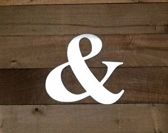 Ampersand Sign/Metal Wall Art/And Wall Art/And Sign/Cutouts/Metal Wall Decor/Home Decor/Gallery Wall Decor/Mantel Decor/Industrial Decor