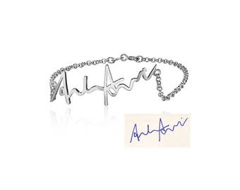 925 Silver handwritten / signature bracelet