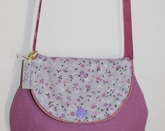 Chic bag for girl purple and liberty
